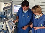 A medical ventilator.
