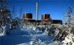View of the Loviisa power plant in winter.